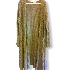 LuLaRoe long sweater cardigan gray XL